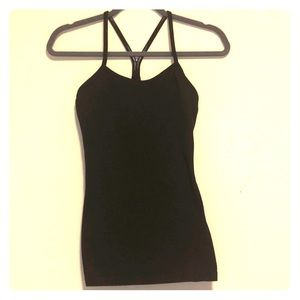 Black Lulu lemon tank